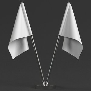 3D model table flags stand