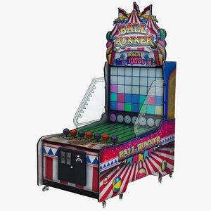 ball runner arcade machine 3D model