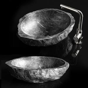 3D stone sink