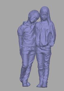 scanned child background 3D model