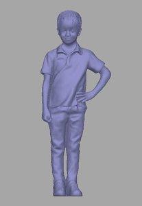 3D model scanned child background
