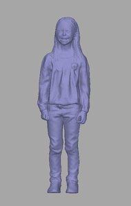 scanned child 3D model