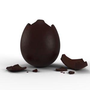 broken chocolate easter eggs model