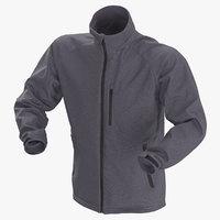 3D male winter jacket 01