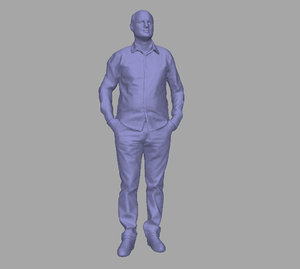 3D scanned person model