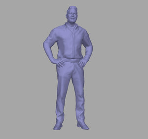 scanned person 3D model