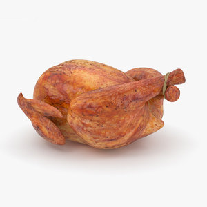 3D roast chicken model