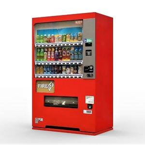 3D japan soda machine vending model