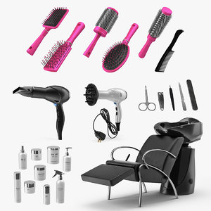 beauty salon equipment 2 3D