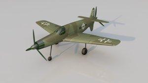 3D dornier 335 pfeil aircraft