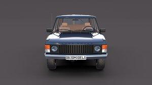 3D model rover range interior