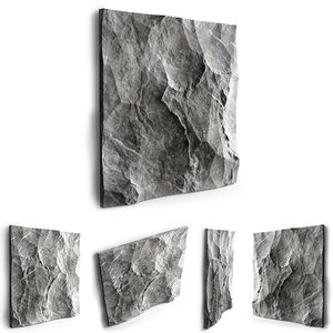 decorative stone wall 3D model