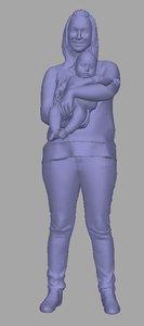 scanned woman baby model