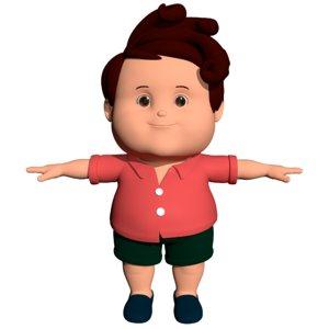3D fat boy cartoon