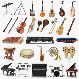 musical instruments 7 3D model