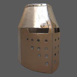 templar helmet 3D model