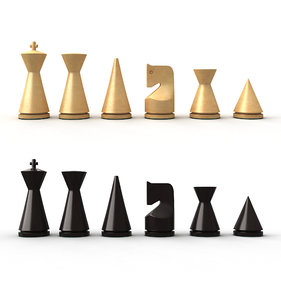 modern chess pieces model