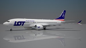 3D lot polish boeing 737