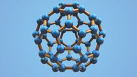 3D model carbon structure fullerene