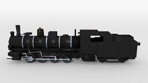 historical austrian steam locomotive 3D