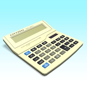 3D model calculator office
