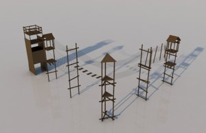 obstacle course 3D model