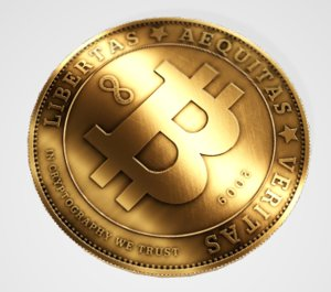 bitcoin cryptocurrency money 3D model