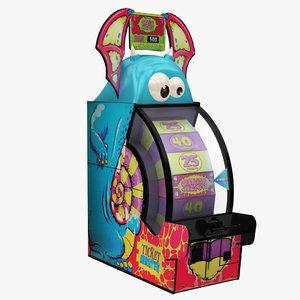 3D ticket monster arcade machine