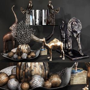decorative set 61 3D model