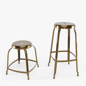 3D model stool isaac define