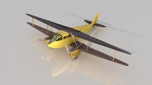 havilland dh-89 dragon rapide 3D model