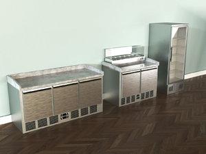 pizzeria equipment -5pcs- 3D model