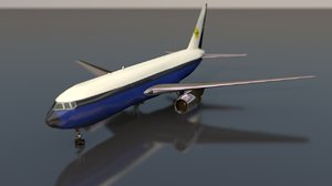 passanger commercial airplane model