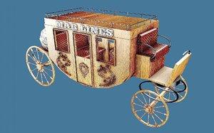 3D western wagon 4
