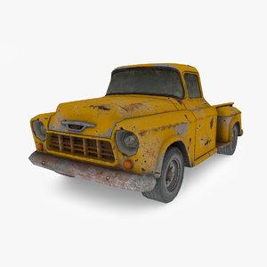 3D model chevrolet truck 1956
