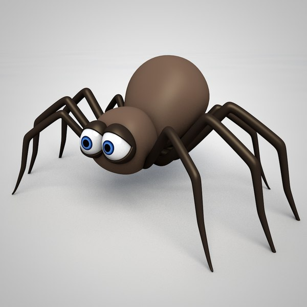 3D simple cartoon spider