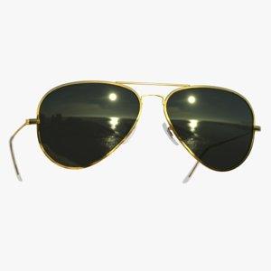 sunglasses aviator classic style 3D model