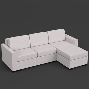 l-shaped couch sofa 3d model