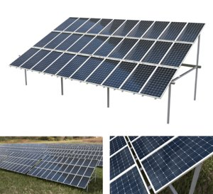 pv solar array 3D model