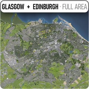 edinburgh - glasgow surrounding 3D
