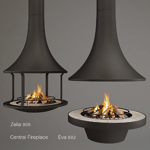 3D model central zelia eva