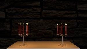 candle fireplace mantel model