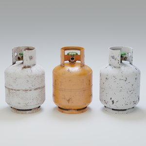 9kg gas bottles 3D model