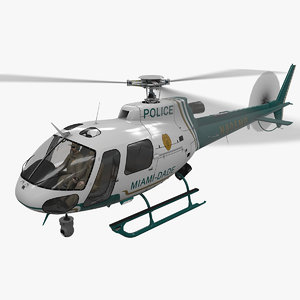 helicopter as-350 miami dade model