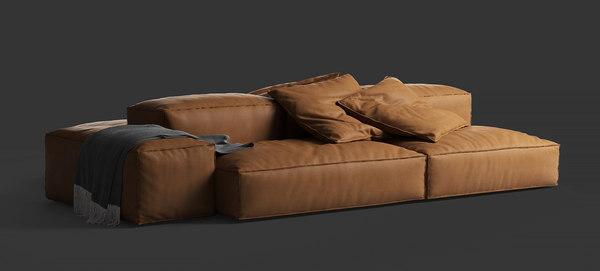Living Divani Extra Soft.3d Extrasoft Sofa Living Divani Turbosquid 1503019