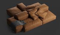 Extrasoft sofa by Living Divani 3D model