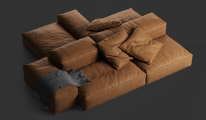 3D extrasoft sofa living divani