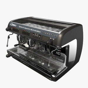 3D coffee machine model