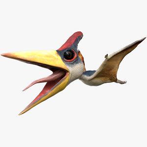 3D model pteranodon rigged dinosaurs