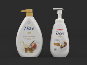 3D dove body wash model